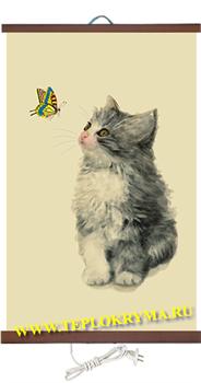 Гибкий настенный обогреватель Котёнок 400 Ватт - фото 4249