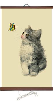 Гибкий настенный обогреватель Котёнок 400 Ватт (2й сорт) - фото 4419
