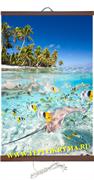 Гибкий настенный обогреватель Тропические Рыбки 400Вт  (2й сорт)