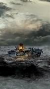 """Москитная сетка - """"Лодка в шторм"""""""